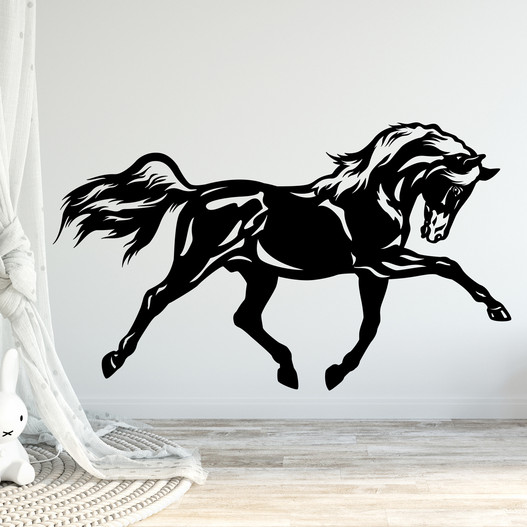 hest i dressur wallsticker, heste wallstickers