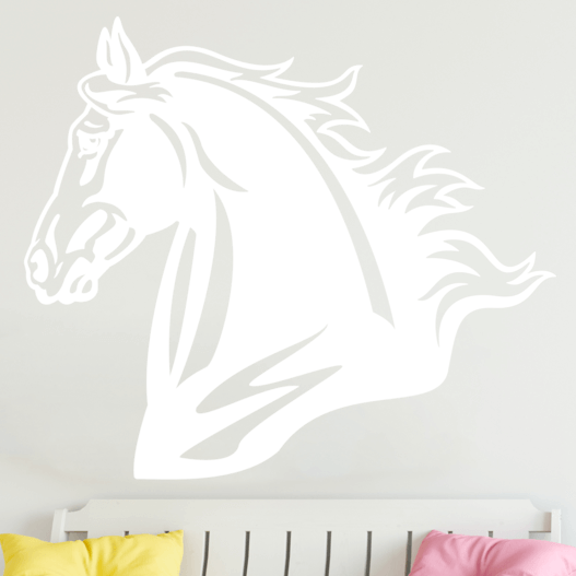Smukt hestehoved wallsticker, heste wallstickers