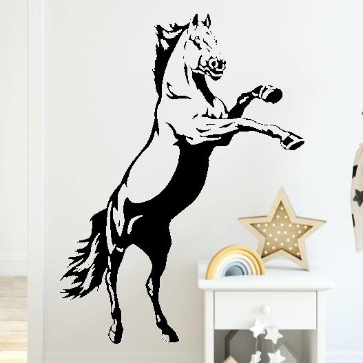 Stejlende hest, heste wallstickers