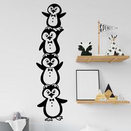 Tårn med pingviner wallstickers, flot wallsticker