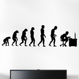 Gamer wallsticker med evolution pc. Sej wallstickers til børneværelset