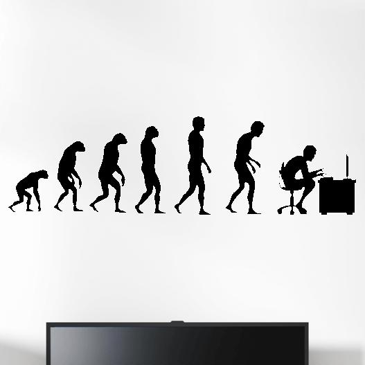 Gamer wallsticker med evolution pc. Sej wallstickers til børneværelset
