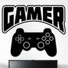 """Gamer wallsticker med teksten """"Gamer"""" og en konsol kontroller. Sej wallstickers til børneværelset"""