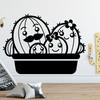 Kaktus familie wallsticker, sjov wallstickers til børneværelset