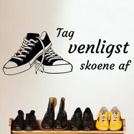skoene af wallsticker