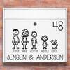 Tændstik familie - postkasse stickers